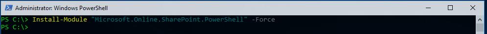 Install SPO PowerShell Module