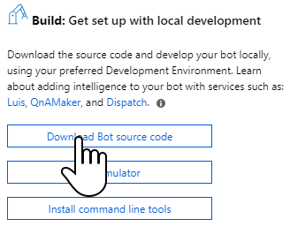 To download the source code head to the bot's dashboard an select Download bot source code.