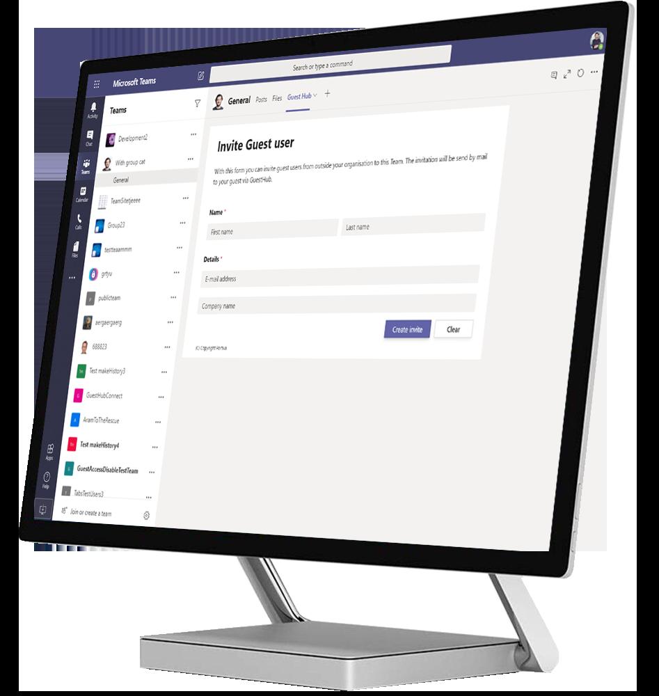 Surface studio Mock-up - Guest Hub